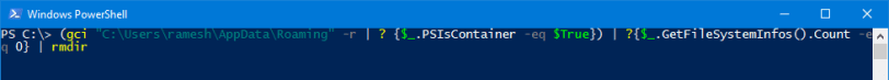 powershell remove empty folders recursively