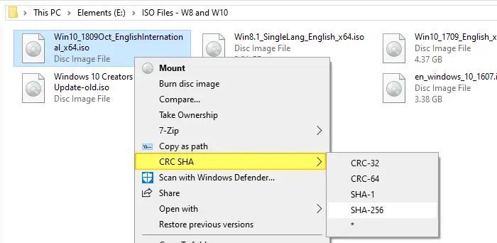 get file hash right-click menu 7-zip
