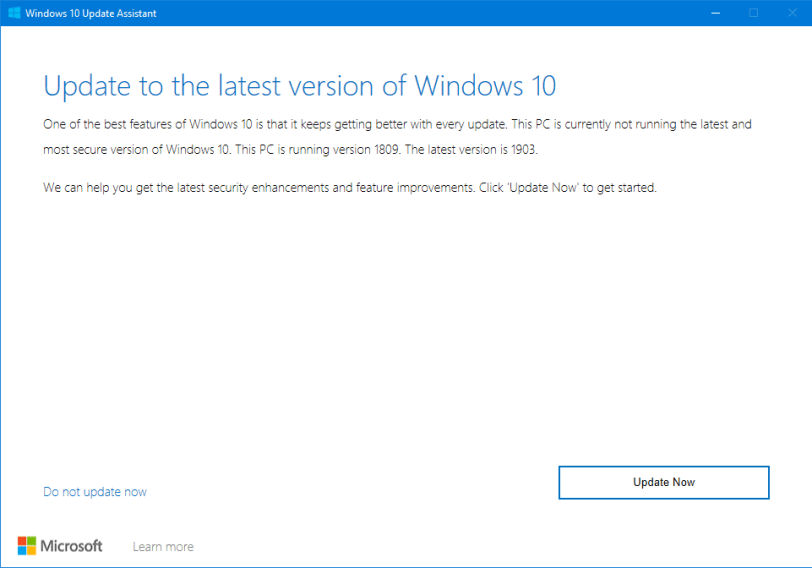 windows 10 1903 upgrade issues