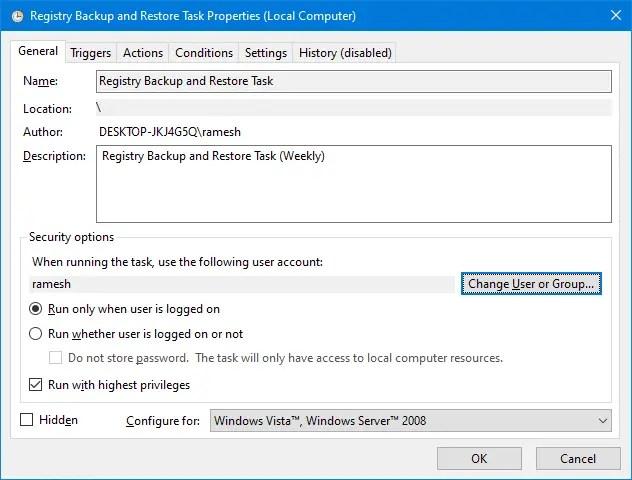 completely backup windows 10 registry - registry backup and restore utility - task scheduler