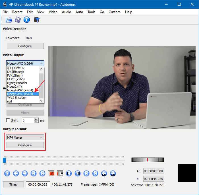 resize or change resolution of videos in windows - avidemux
