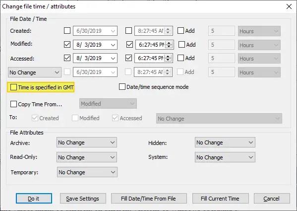change last modified file date or timestamp bulkfilechanger