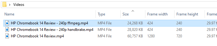 resize or change resolution of videos in windows - ffmpeg