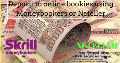 Deposit to online bookies using Moneybookers or Neteller