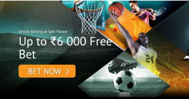 Rs 6000 free bet offer at Spin Palace