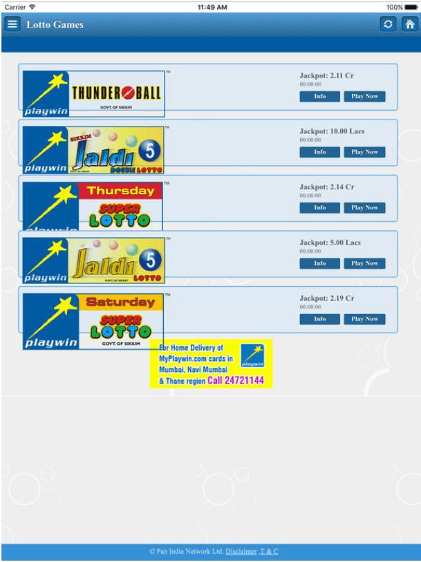Playwin Super lotto