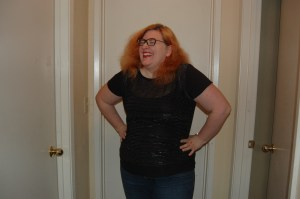 Hah! I've beat the storm! And I have this super-cute top to prove it.