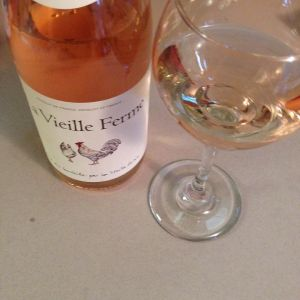 The La Vieille Ferme 2015 Cotes du Ventoux Rose has a lovely blush color