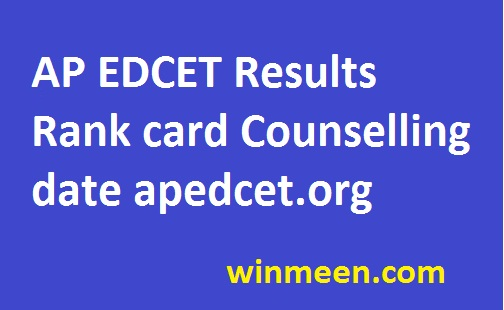 AP EDCET Results Rank card Counselling date apedcet.org