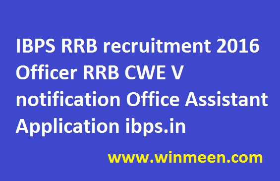 ibps-rrb-recruitment-2016-officer-rrb-cwe-v-notification-office-assistant-application-ibps-in