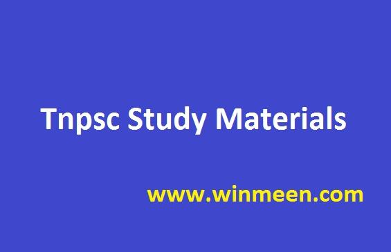 Tnpsc Study Materials