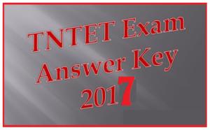 Tamilnadu TN TRB TET Answer Key