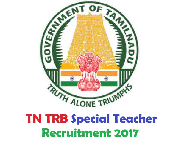 TN TRB Special Teachers Recruitment