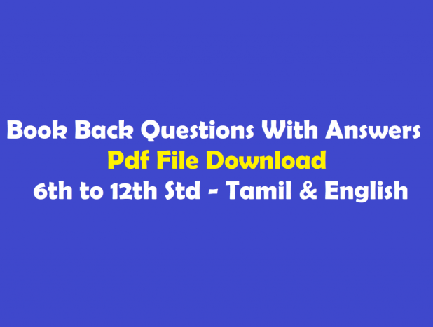 6th to 12th Std Tnpsc Samacheer Book Back Questions with