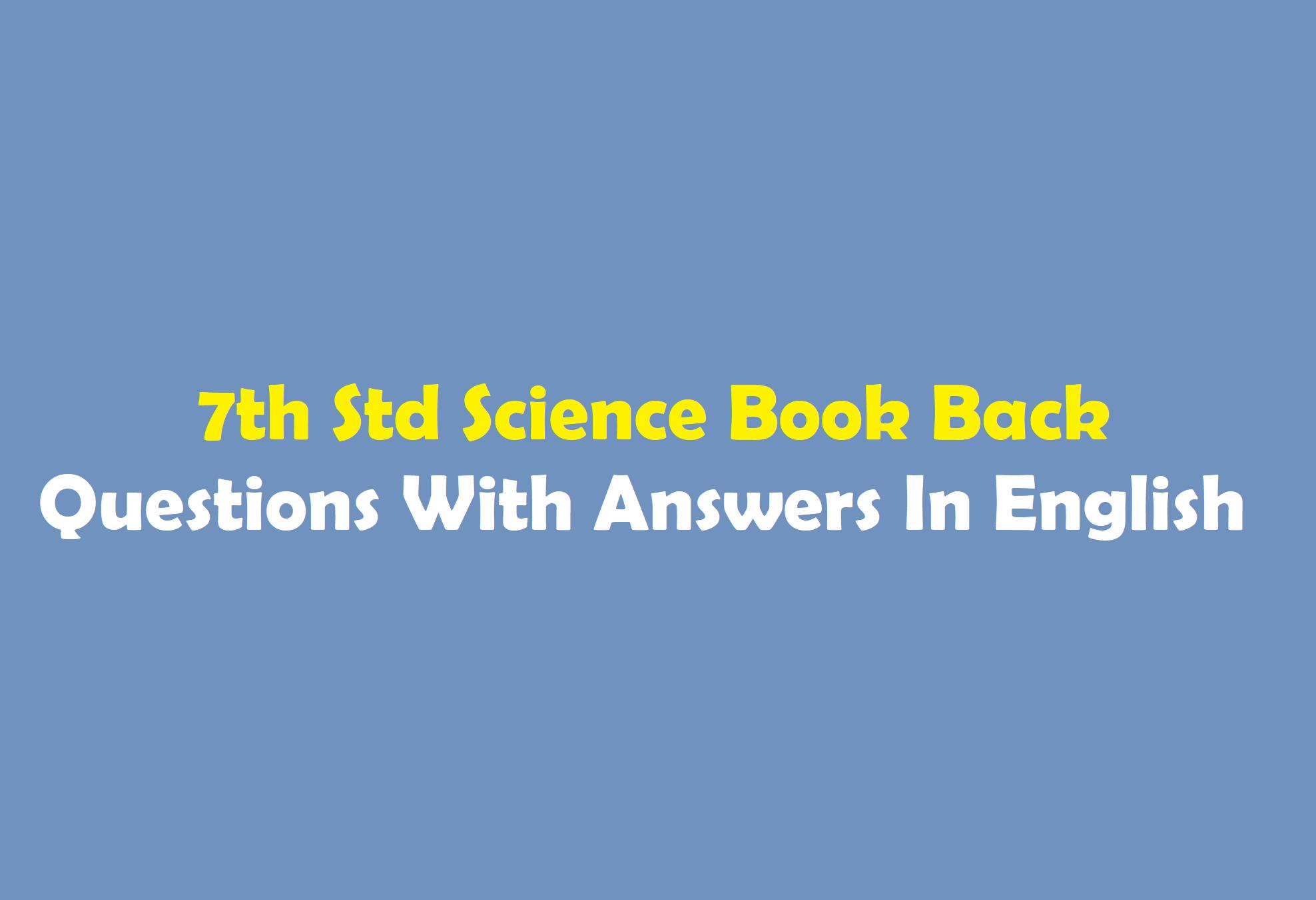 Samacheer Kalvi 7th Science Book