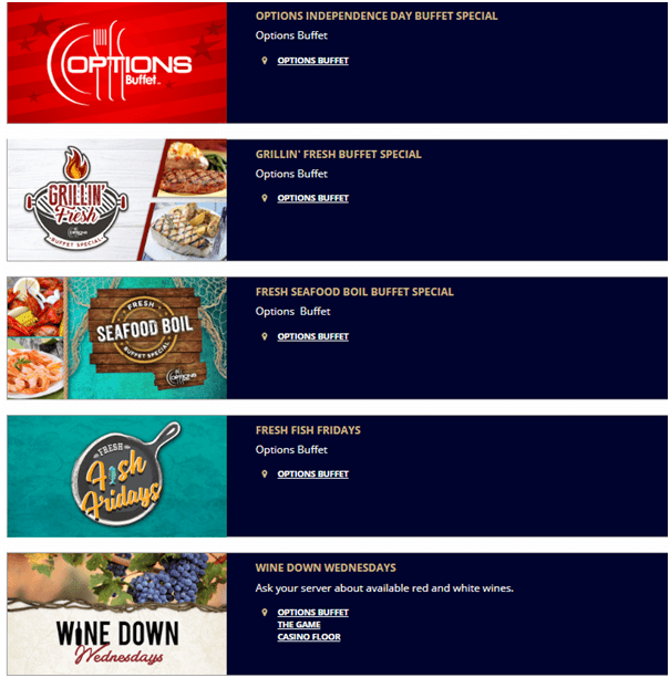 Blue Chip Casino Buffet Deals