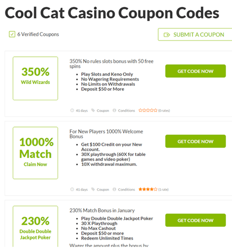 Cool Cat Verified Coupon Codes