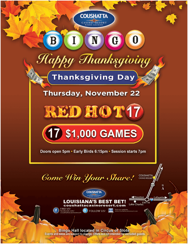 Coushatta Casino Thanks giving