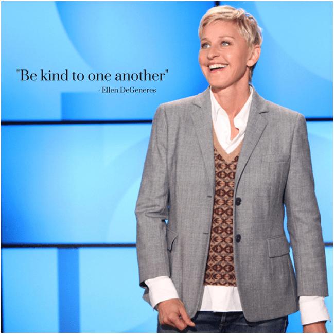 Ellen's famous quote