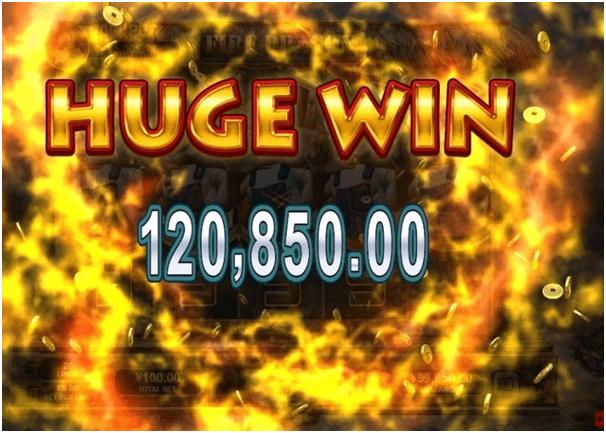 Fire Dragon slot wins