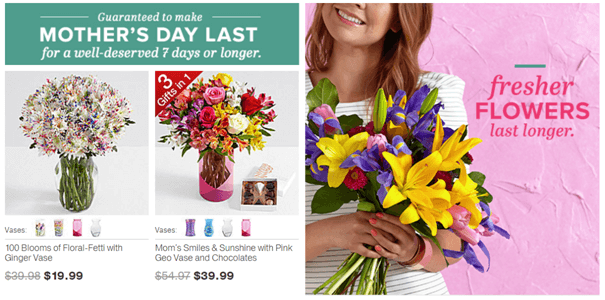 Gift flowers to your mom