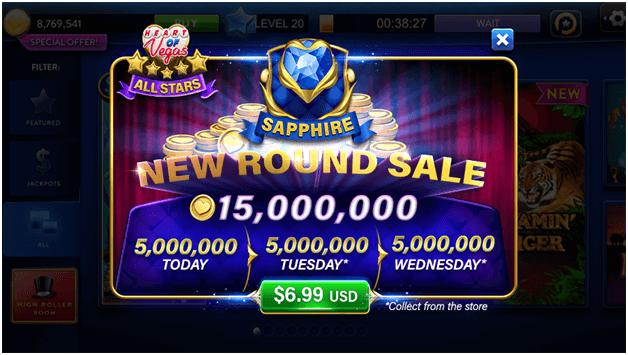 Heart of Vegas Bonus coins