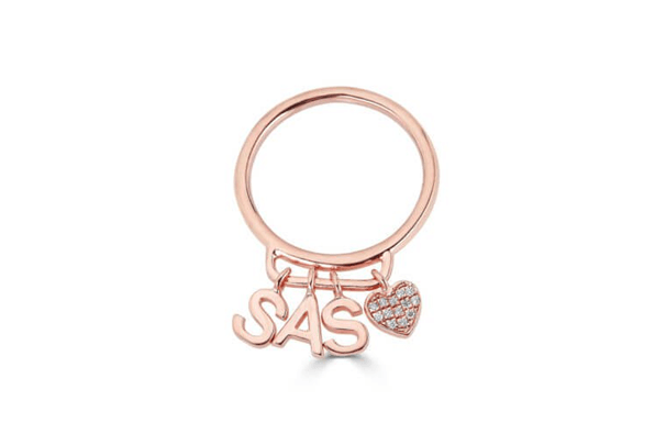 Initial ring Valentine Gift