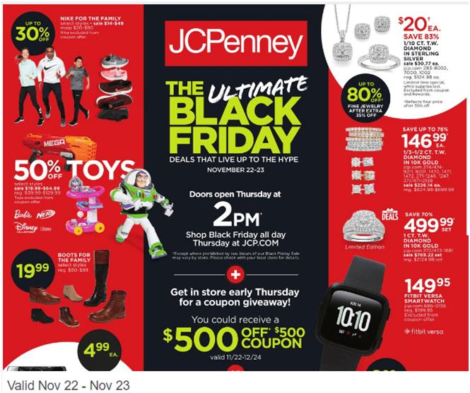JC Penny deals