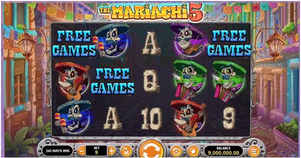 Mariachi slot game free spins bonus