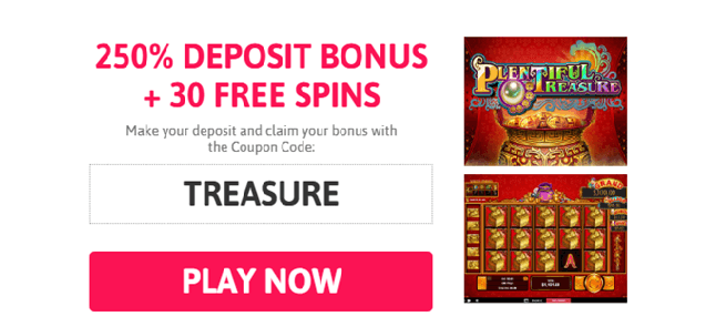 Play plentiful treasure new slot