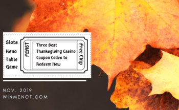 Three Best Thanksgiving casino coupon codes to redeem now