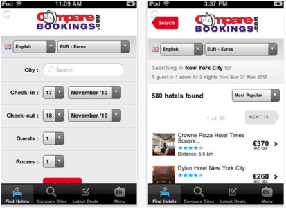 Compare Booking App