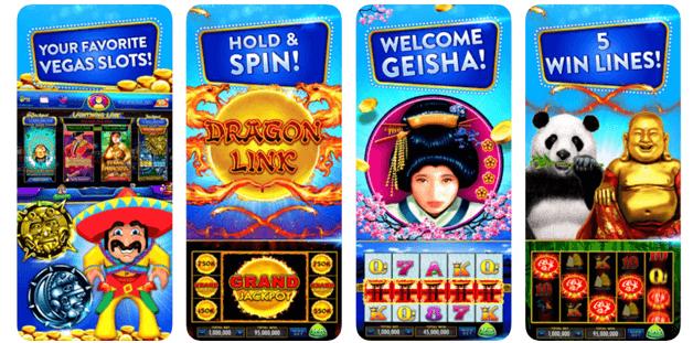 Slot machines at Heart of Vegas