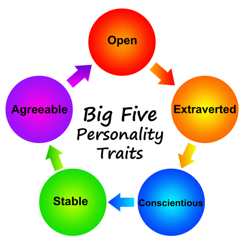 big five personality traits betting