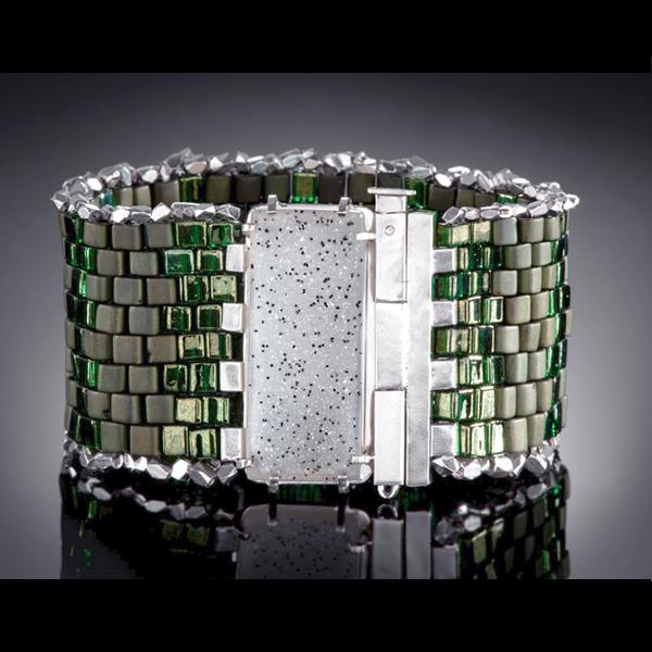 Olive Dalmatian Druzy Bracelet