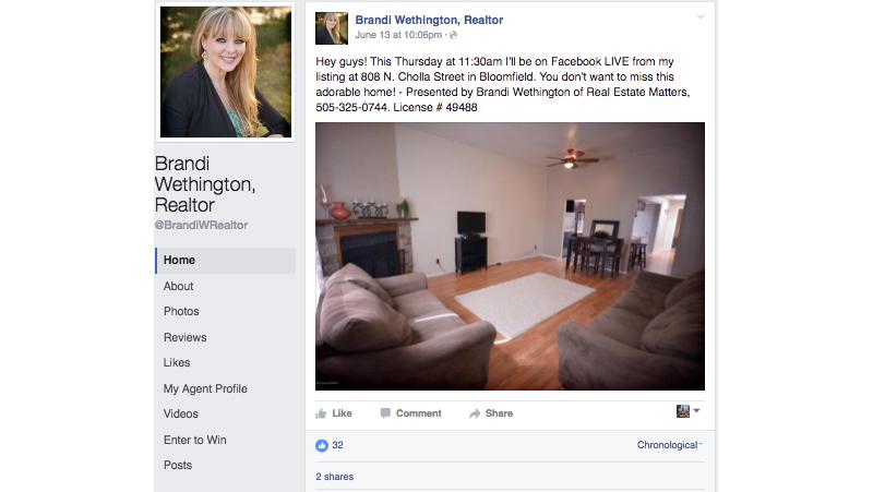 Facebook Live, Brandi Wethington