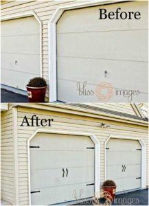 Garage Door DIY improvements