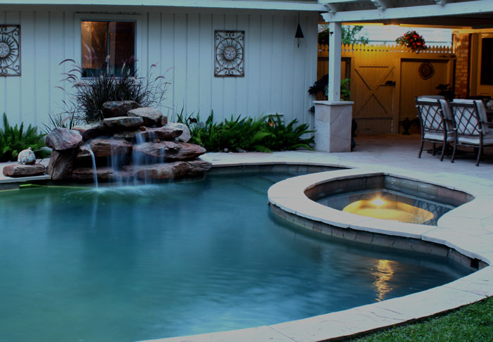 Photo of Waterfall in Evening Real Estate Photo