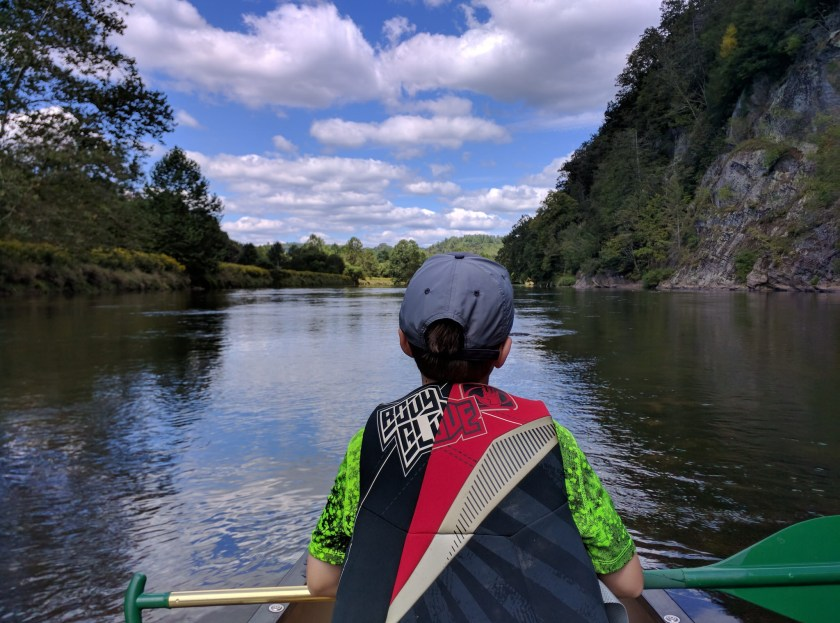 TGS and son canoeing