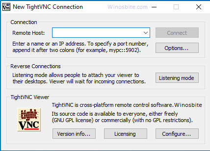Соединение TightVNC