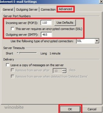 настройки электронной почты в Интернете в Outlook