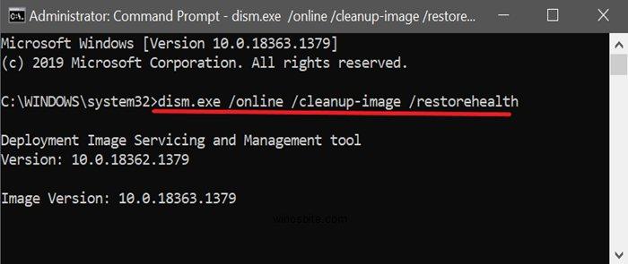 Dism.exe очищающий образ