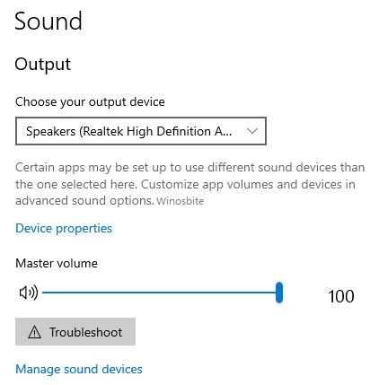 Настройки вывода звука в ноутбуке Asus Windows 10