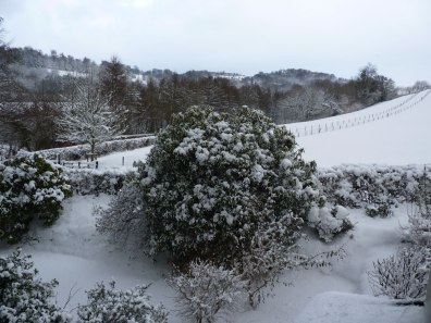 Winter View from bedroom at Winsbere