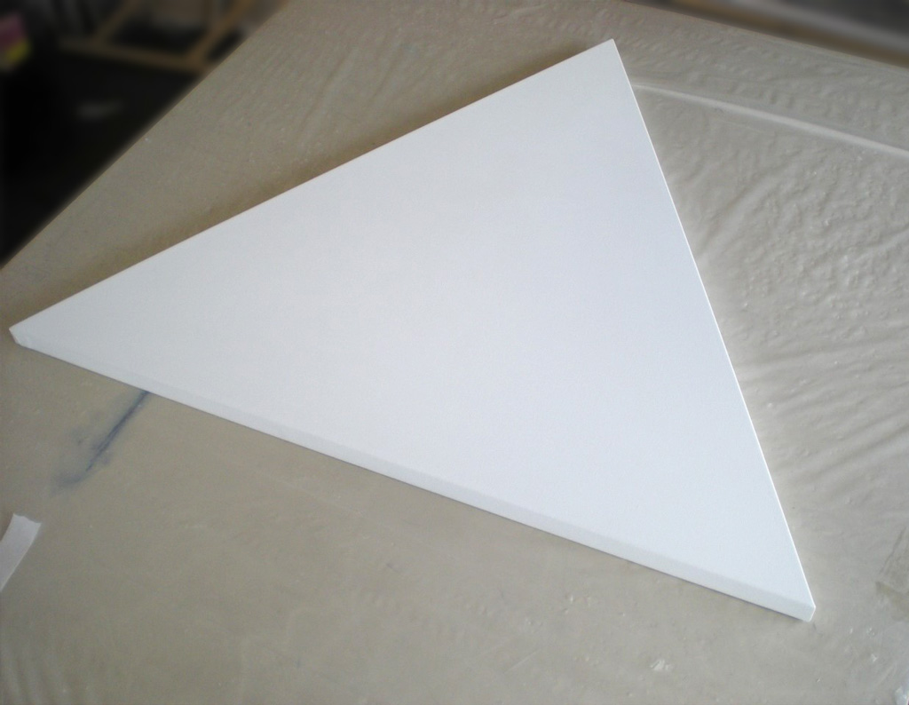 Custom Triangle stretched canvas