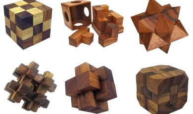 6 Cube Puzzles Piece Wooden Wooden Thing