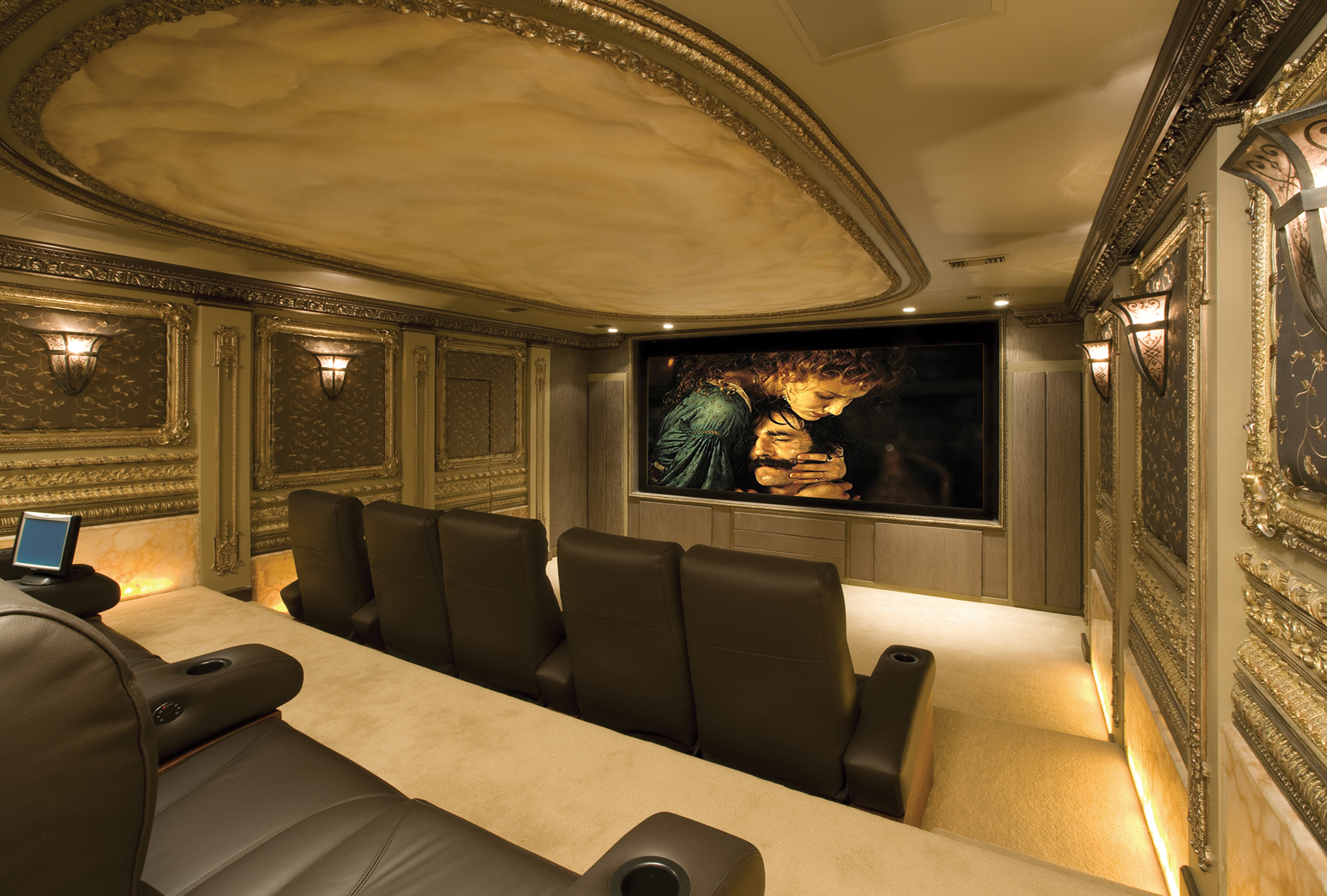 Best Kitchen Gallery: Custom Home Theaters Winslow Design Group of Home Theater Room Carpet on rachelxblog.com