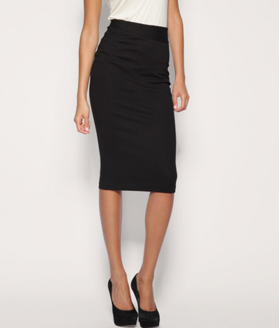 black-pencil-skirt