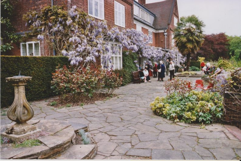 Terrace, c. 1990, Winterbourne House and Garden, Digging for Dirt