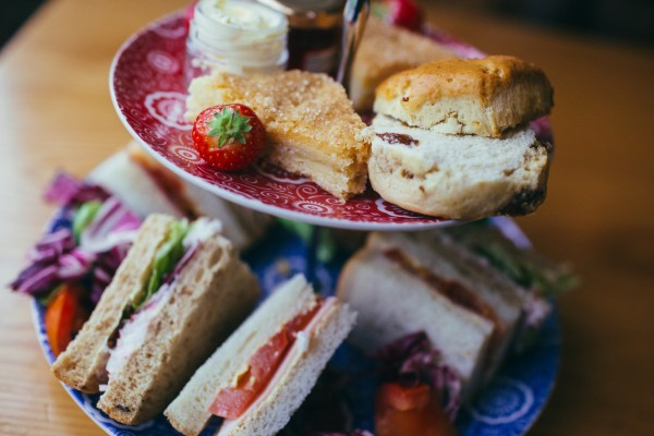 Afternoon tea and sandwiches in the Tea Room